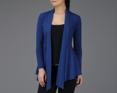 Blue full sleeve cotton wrap thumb