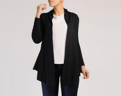 Black full sleeve cotton wrap thumb