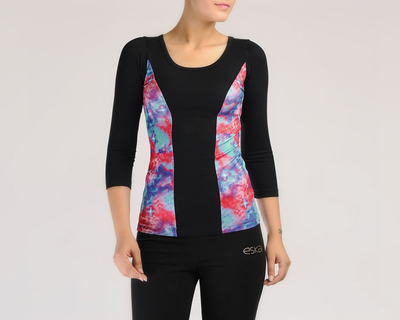 Galaxy print active top thumb