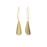 Shimmering curves earrings small