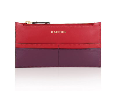 The red purple long wallet thumb