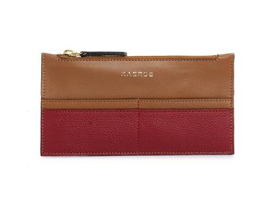 The tan red long wallet thumb