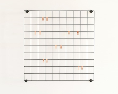 Rectangular photo holder wall grid thumb