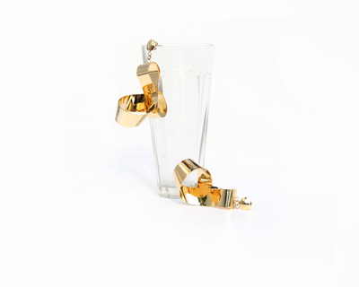 Mobius twist earrings thumb