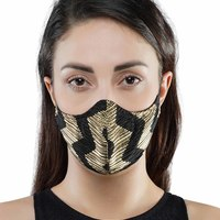Printed pleated mask small