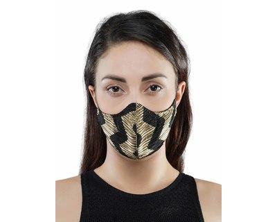 Printed pleated mask thumb