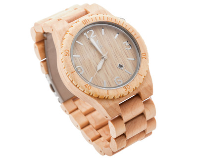 Woodin pleco maplewood analog wooden watch wm02c01 thumb