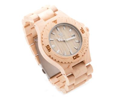 Woodin aruana maplewood analog unisex wooden watch wm01c01 thumb