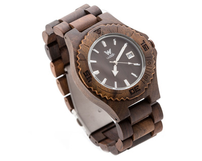 Woodin aruana ebony analog unisex wooden watch wm01c03 thumb