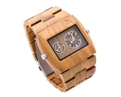 Woodin ornate verawood analog unisex wooden watch wm03c01 thumb