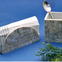 Assemblage ivory mother of pearl tissue organiser small