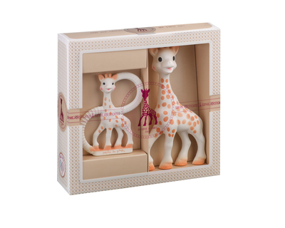 Sophisticated classical creation composition 1 sophie la girafe so pure teething ring thumb