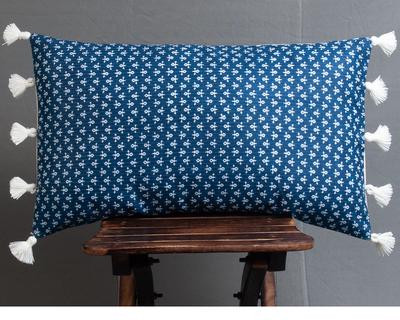 Mati maison s buti indigo lumbar cushion cover thumb