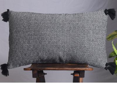 Mati maison s maya noir lumbar cushion cover thumb