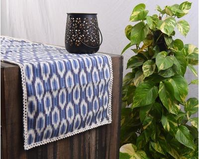 Mati maison s ikat shades of indigo table runner thumb