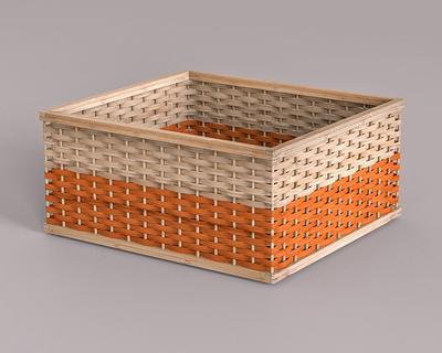 Bamboo stackable basket thumb