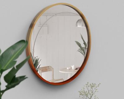 Bamboo mira round mirror thumb