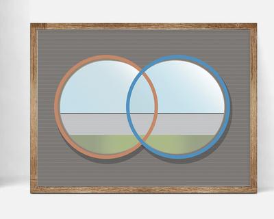 Carlo scarpa tom brion intersecting circles wall art thumb
