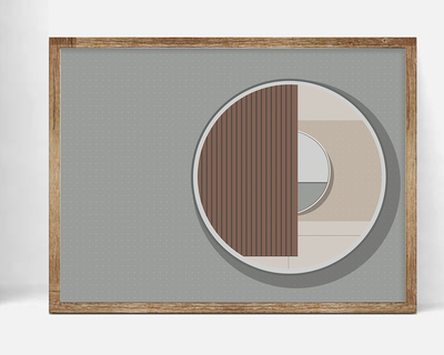 Concentric circles carlo scarpa wall art thumb