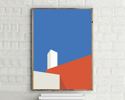 Casa barragan luis barragan wall art thumb
