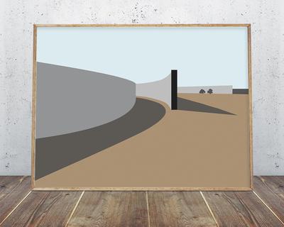 Cerro pelon ranch tadao ando wall art thumb