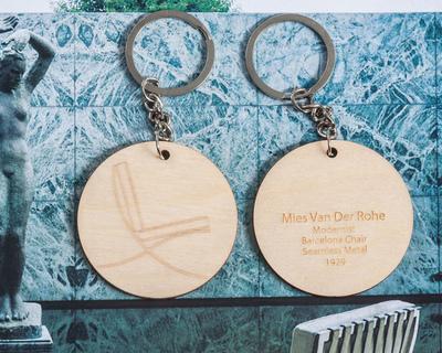 Barcelona chair mies van der rohe keychain thumb