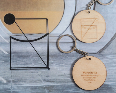 Second chair mario botta keychain thumb