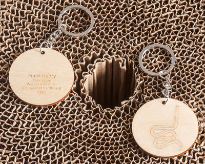 Wiggle side chair frank gehry keychain thumb