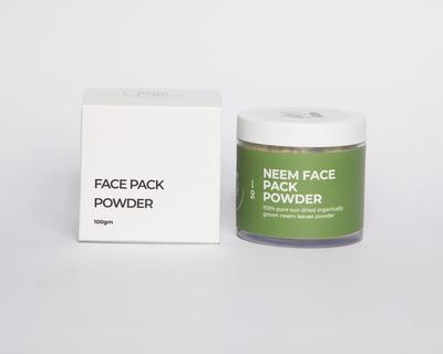 Neem face pack powder thumb