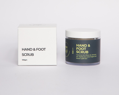 Hand foot scrub thumb