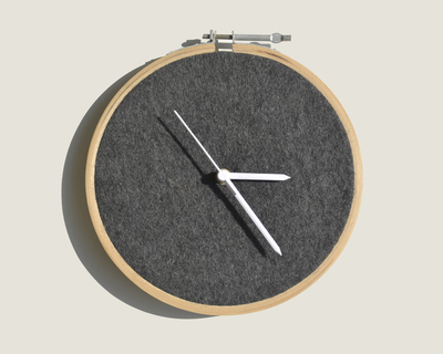 Felt clock thumb
