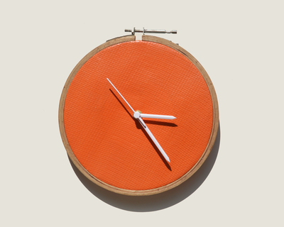 Tarpaulin orange clock thumb
