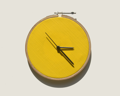 Tarpaulin yellow clock thumb