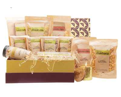 Mega gift box with candle diwali gift hamper thumb