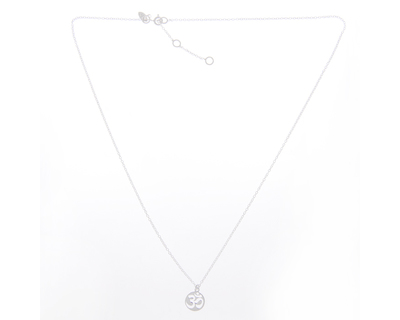 Silver 925 necklace simplicity with om charm thumb