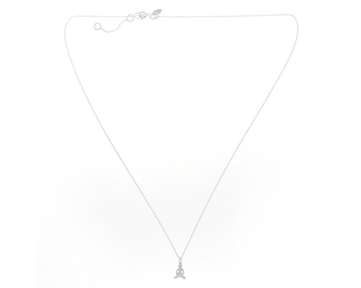 Silver 925 necklace simplicity with buddha charm thumb