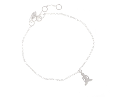 Silver 925 bracelet simplicity with buddha charm thumb