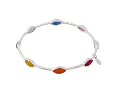 Silver 925 rainbow bangle thumb