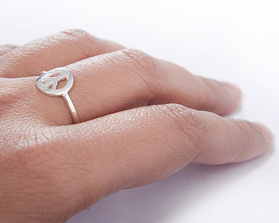 Silver 925 ring simplicity peace thumb