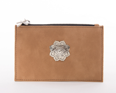 Ecureuil vegan coin purse light brown thumb