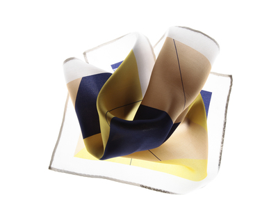 Court pocket square yellow cobalt thumb