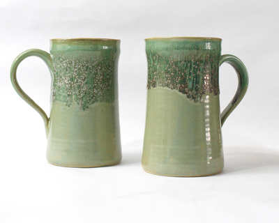 Sage long mugs set of 2 thumb