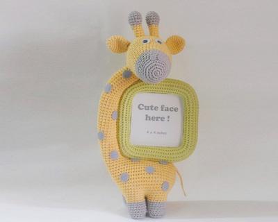 Crochet toy giraffe frame thumb