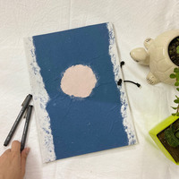Folders blue with white line and pink dot small