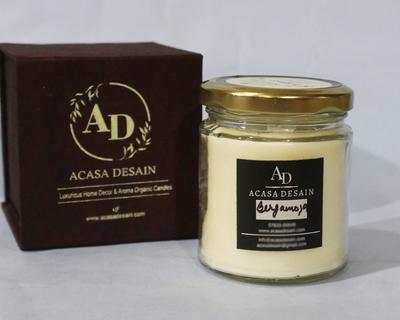Bergamot aroma jar soy candle thumb