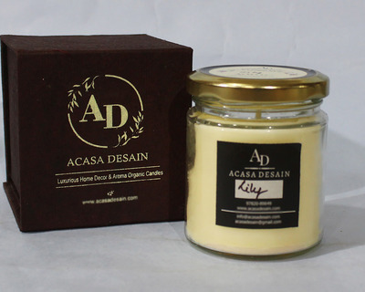Lily aroma jar soy candle thumb