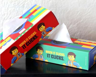 Tissue sleeve lego thumb