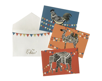 Gift cards bunting elephants thumb