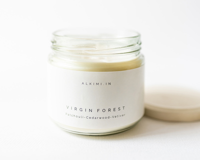 Virgin forest soy wax candle thumb