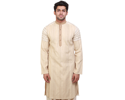 Islands brown stripes kurta thumb